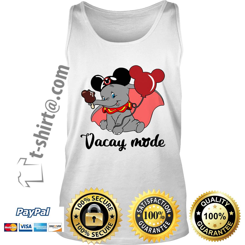 Elephant with Mickey Mouse ears vacay mode Tank top