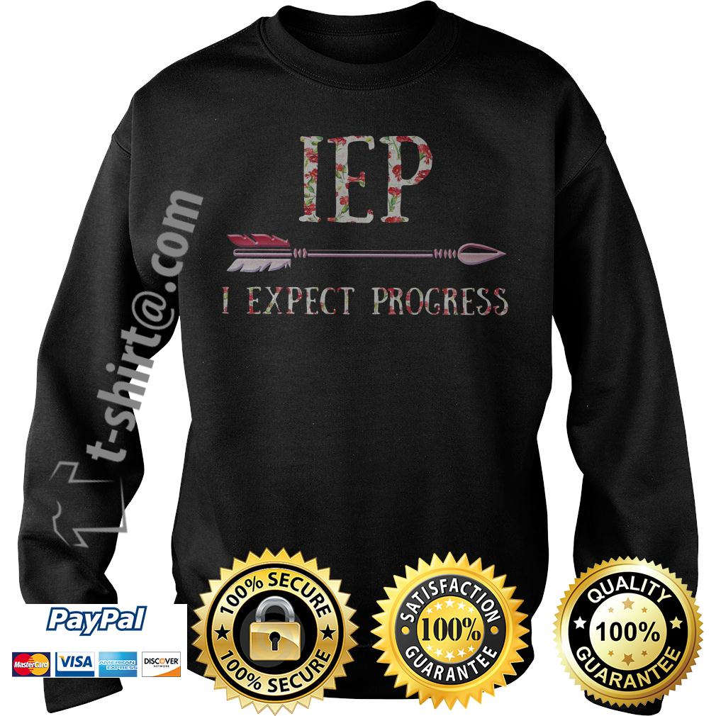 Floral IEP I expect progress Sweater