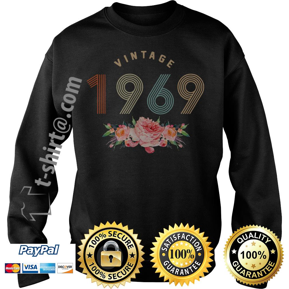 Flower retro vintage 1969 classic birthday 50 years old Sweater