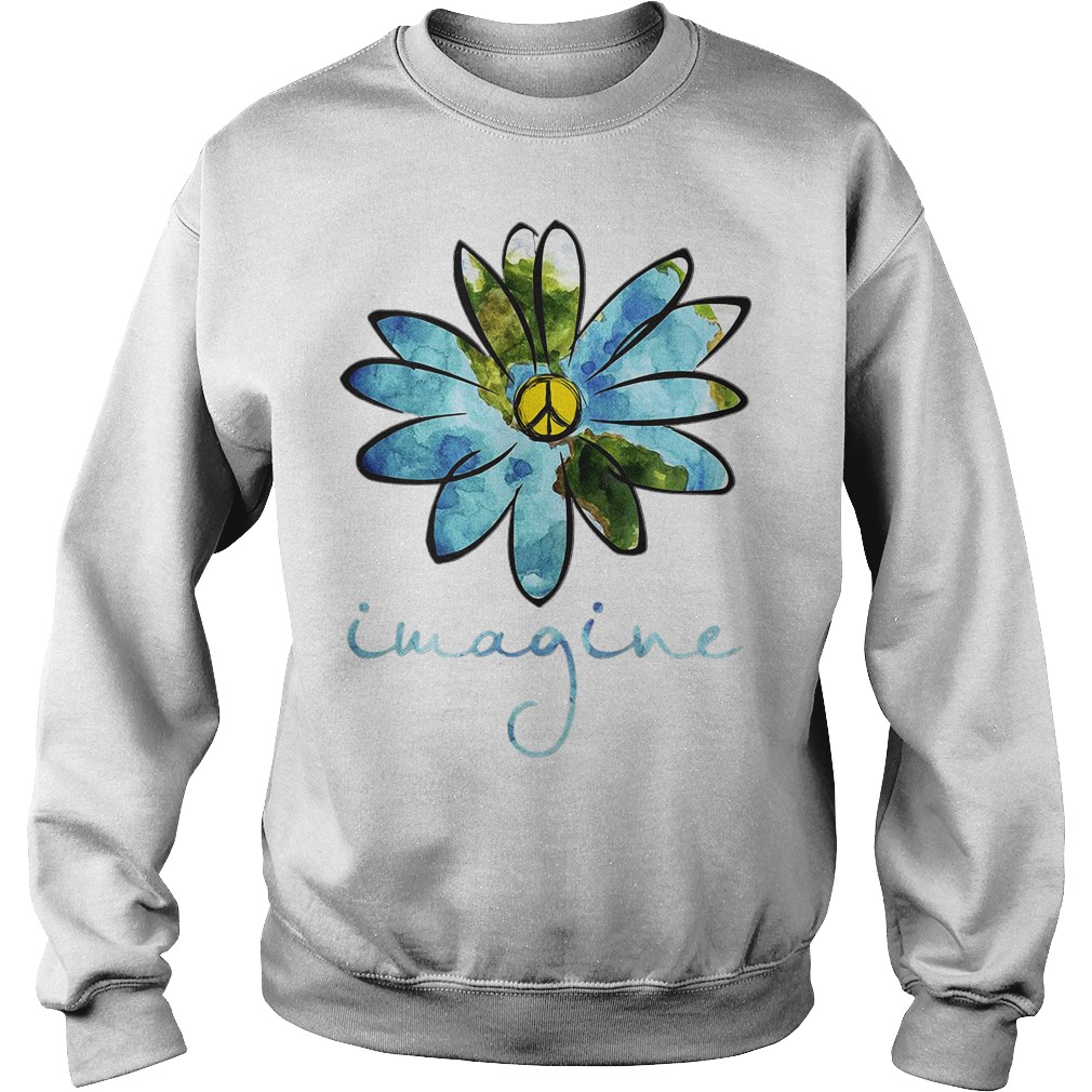 Flowers hippie peace Sweater