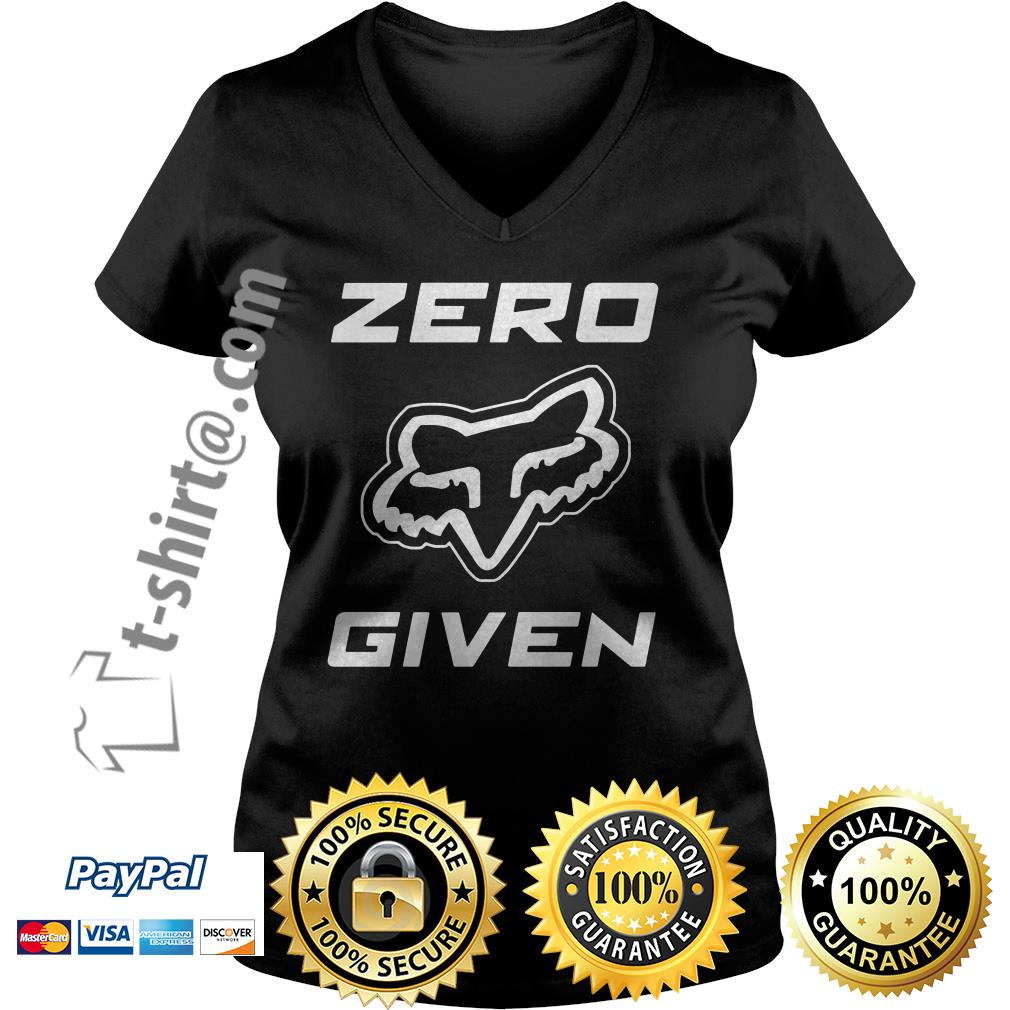 Fox Racing zero given V-neck T-shirt