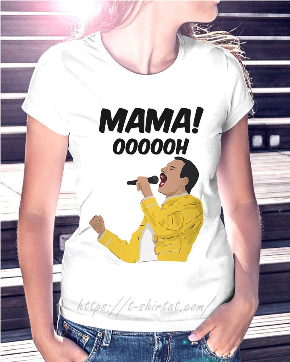Freddie Mercury Mama oooooh Ladies Tee