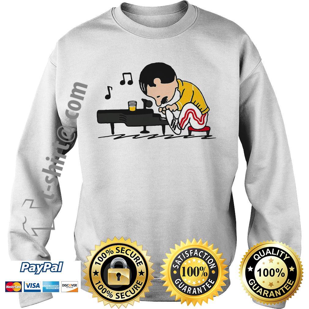 Freddie Mercury playing piano Sweater