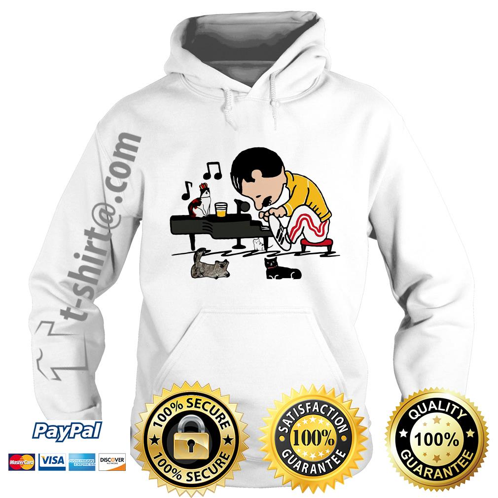 Freddie Mercury playing piano with cat Hoodie