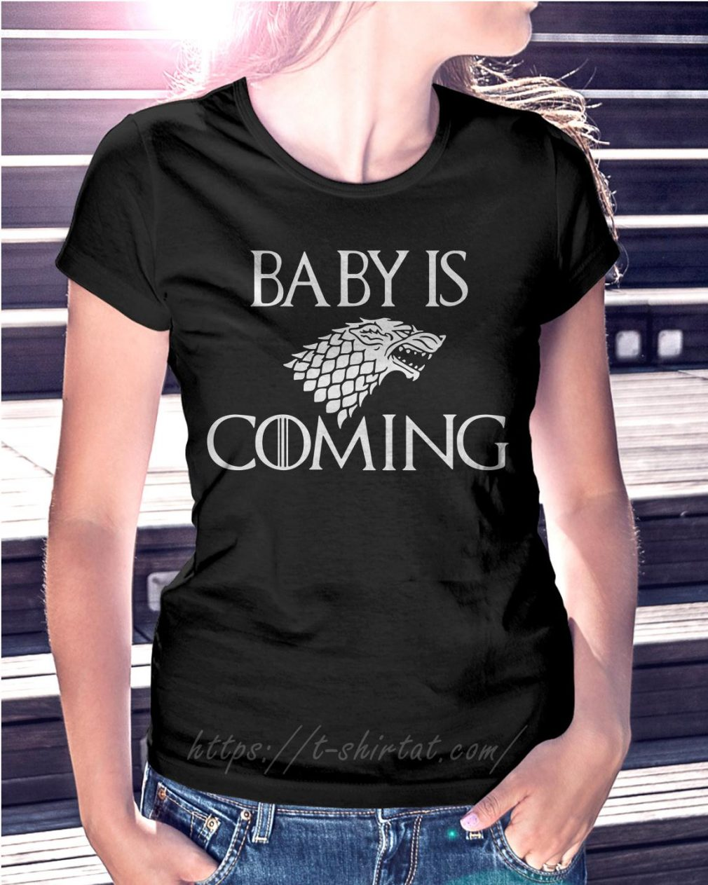 Game of Thrones baby is coming Ladies Tee