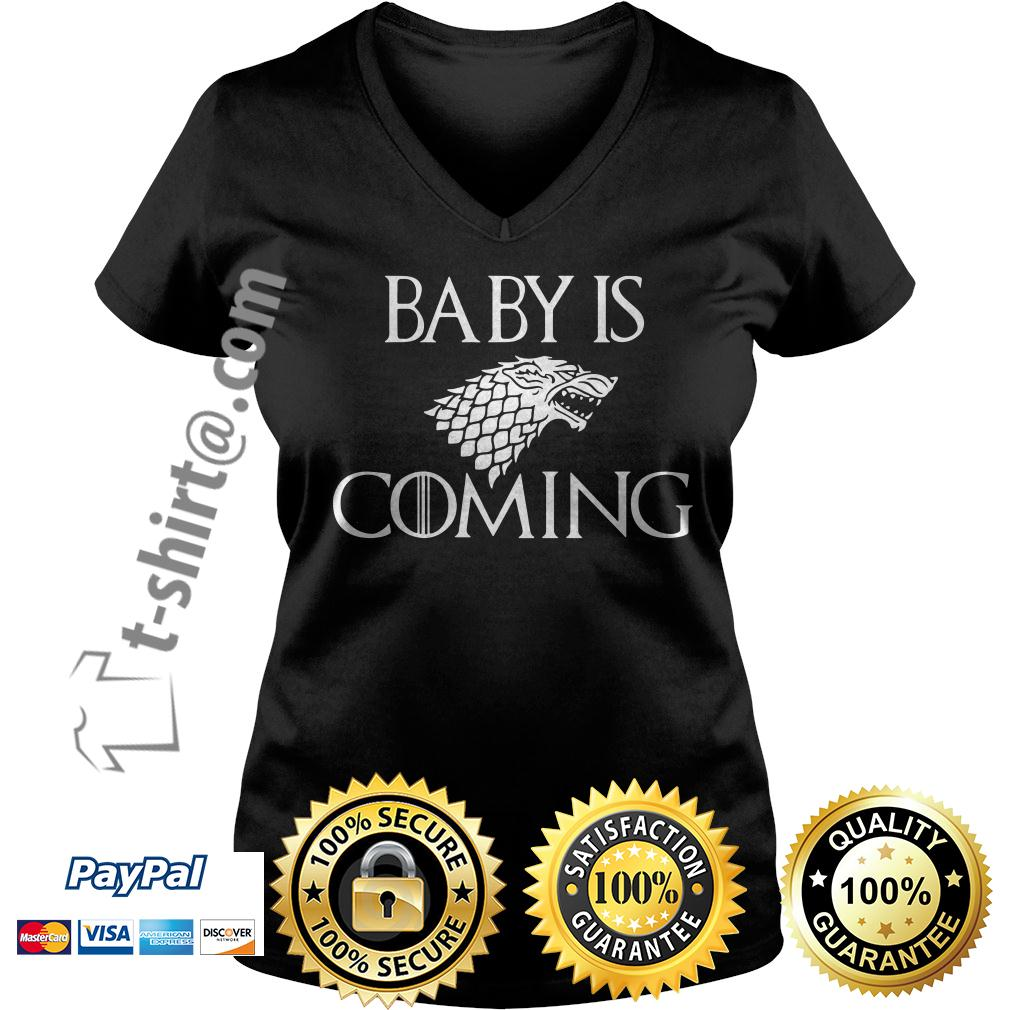 Game of Thrones baby is coming V-neck T-shirt