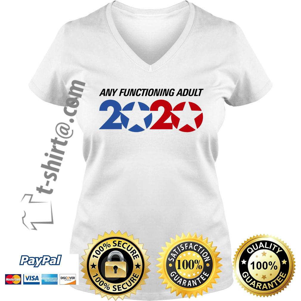 George Takei any functioning adult 2020 V-neck T-shirt