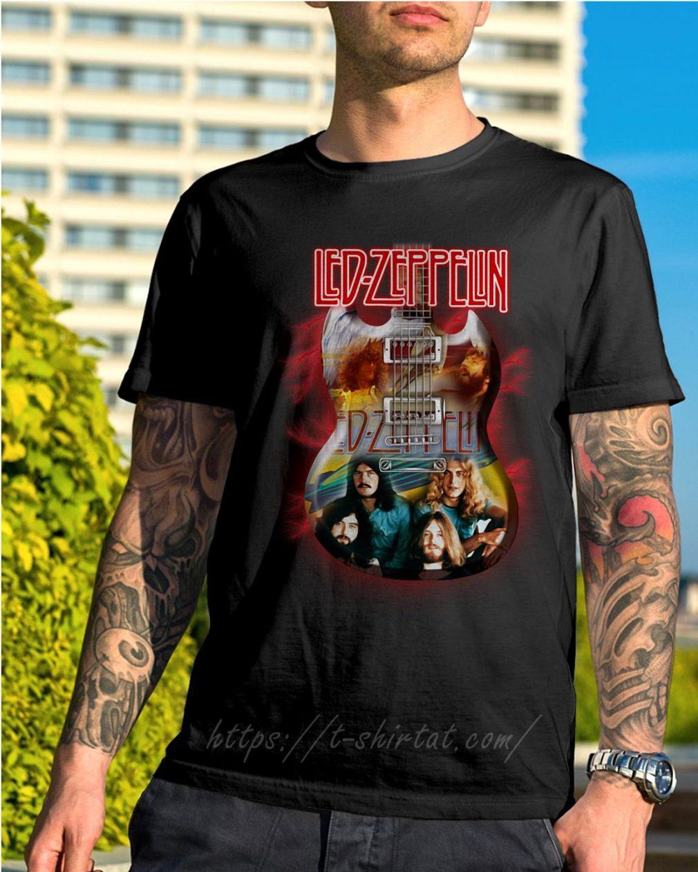 Guitar KISS Led Zeppelin shirt
