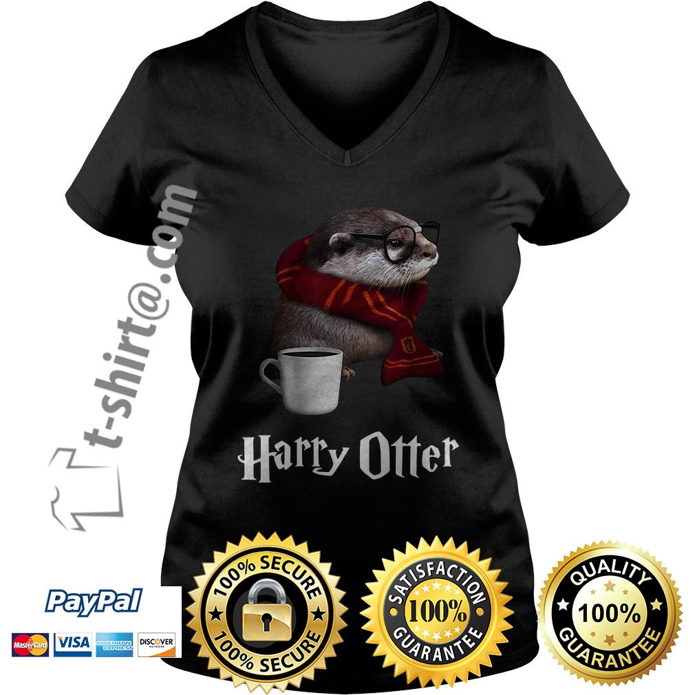 Harry Potter Harry Otter V-neck T-shirt