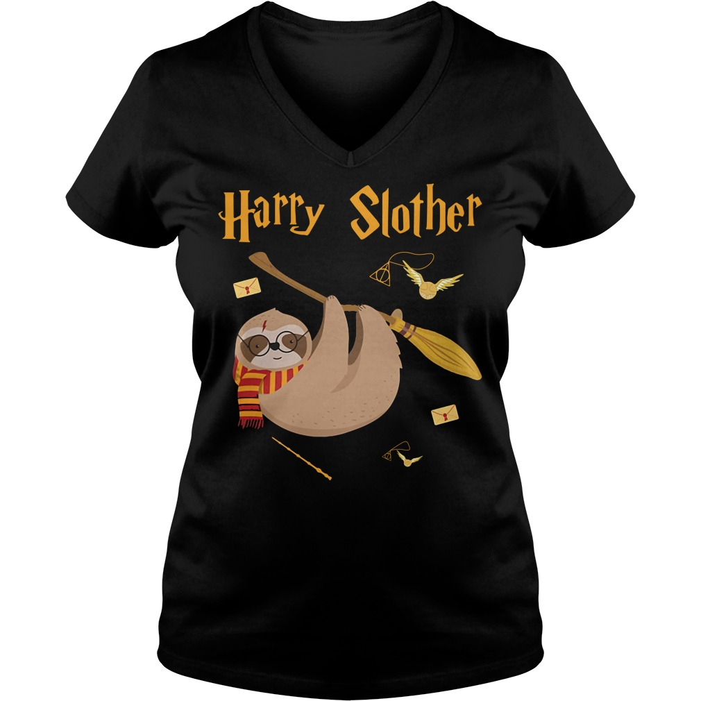 Harry Potter Harry Slother V-neck T-shirt