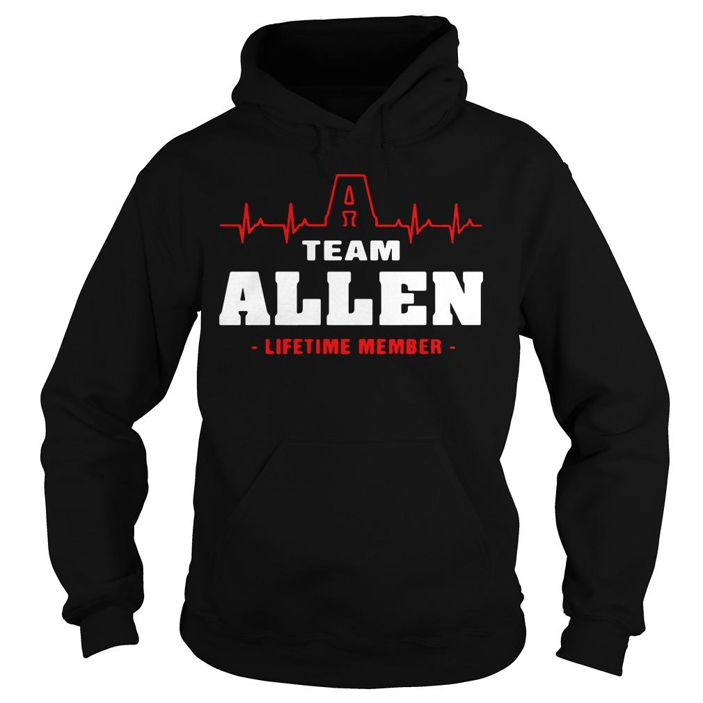 Heartbeat Allen lifetime member Hoodie