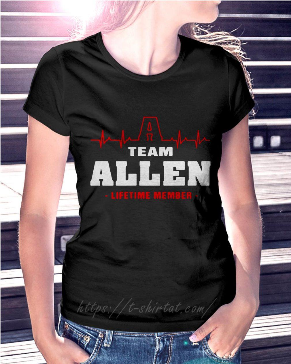 Heartbeat Allen lifetime member Ladies Tee