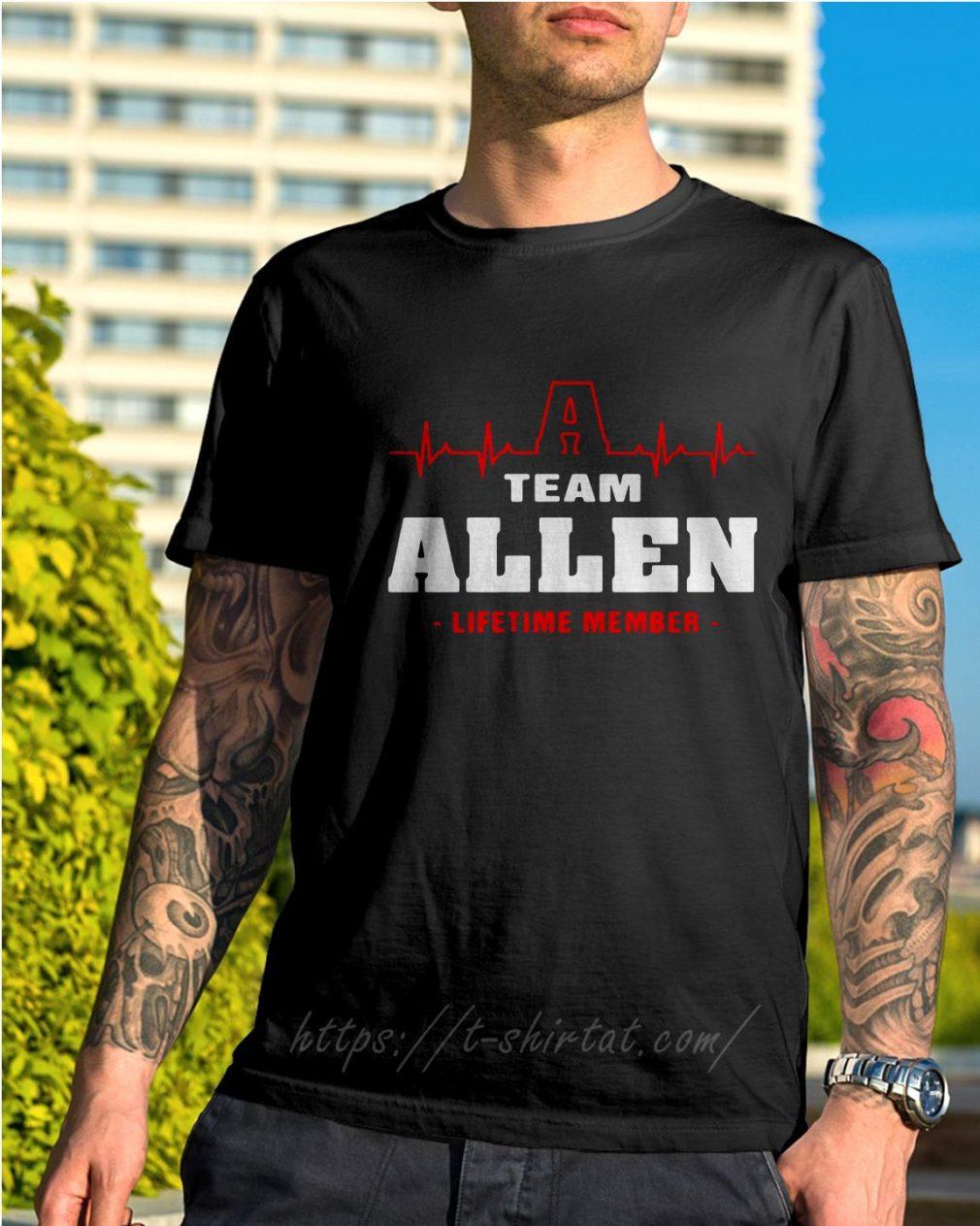 Heartbeat Allen lifetime member shirt