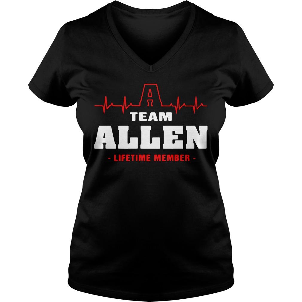 Heartbeat Allen lifetime member V-neck T-shirt