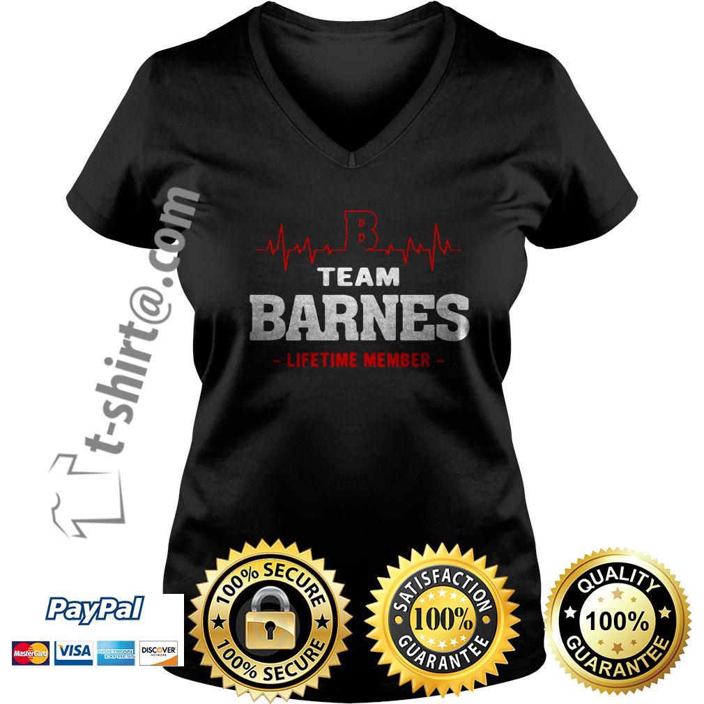 Heartbeat team Barnes lifetime member V-neck T-shirt