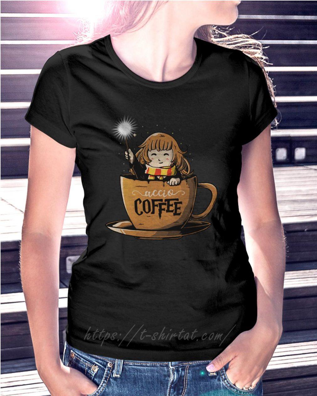 Hermione Harry Potter Accio coffee Ladies Tee