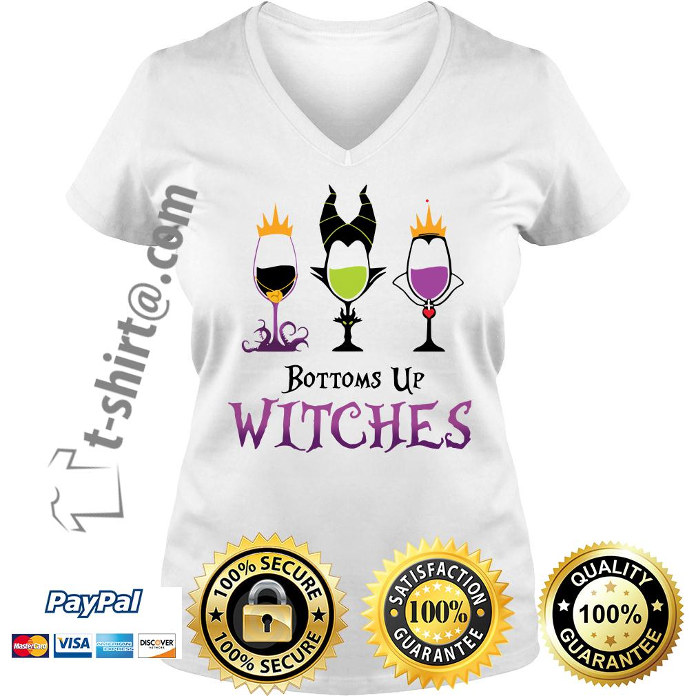 Hocus Pocus bottoms up witches V-neck T-shirt