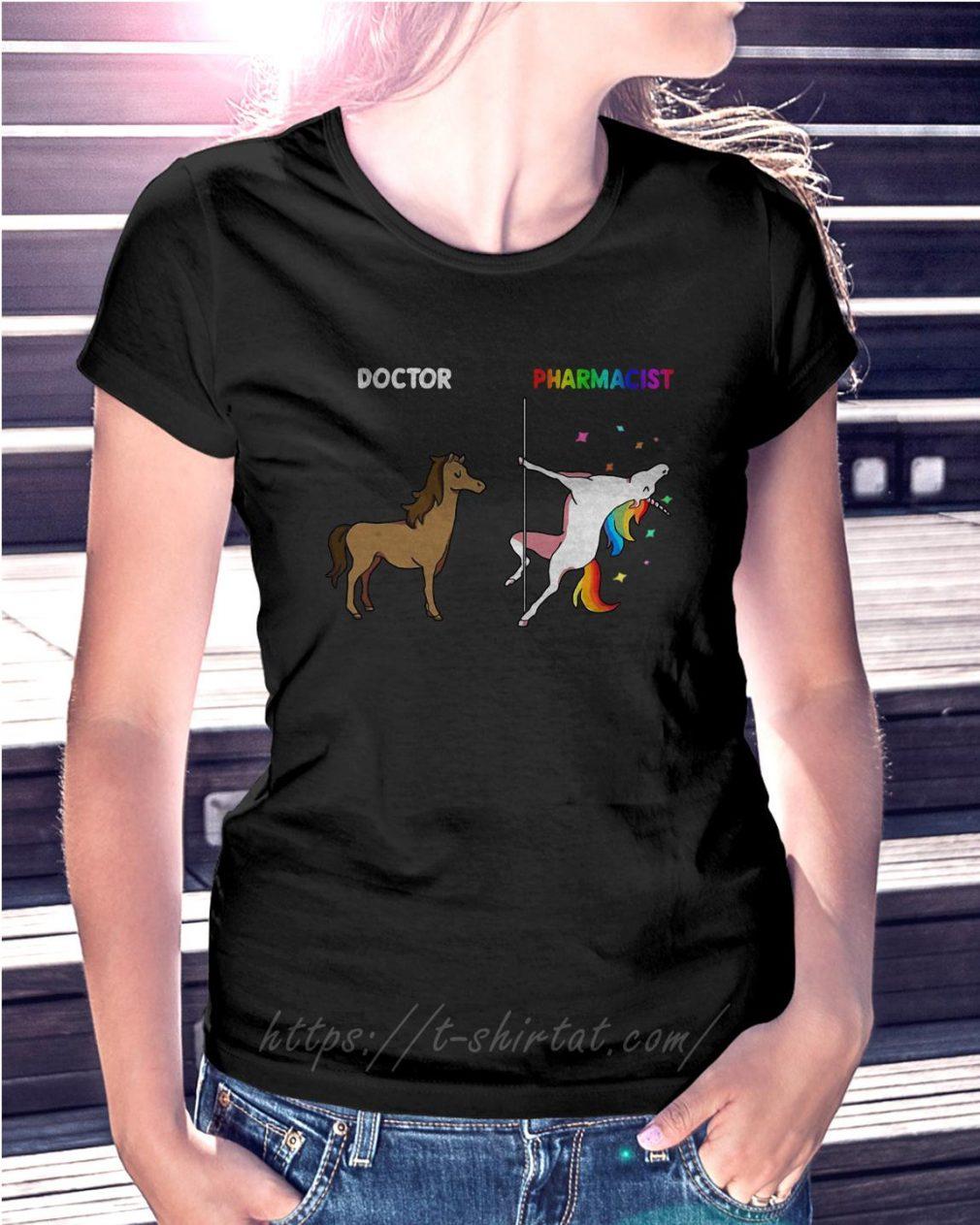 Horse doctor and unicorn pharmacist Ladies Tee