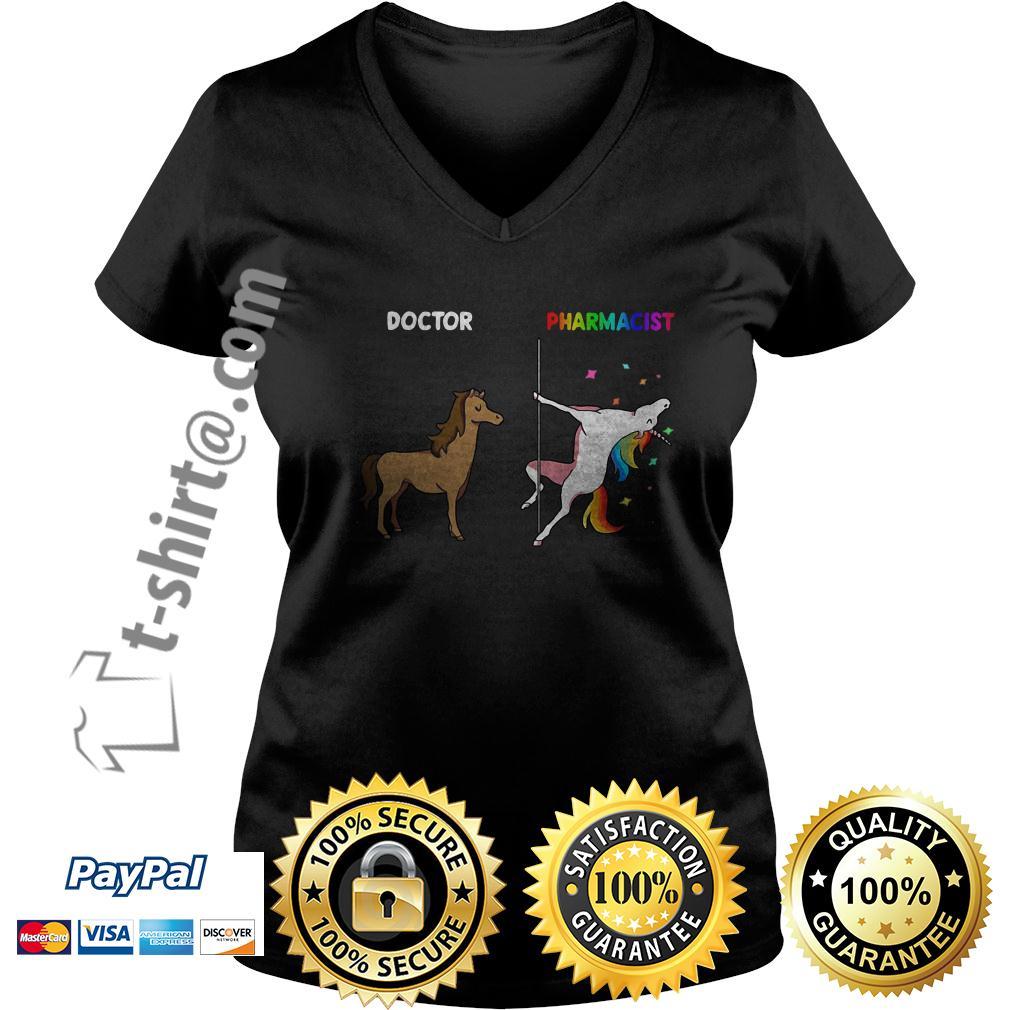 Horse doctor and unicorn pharmacist V-neck T-shirt