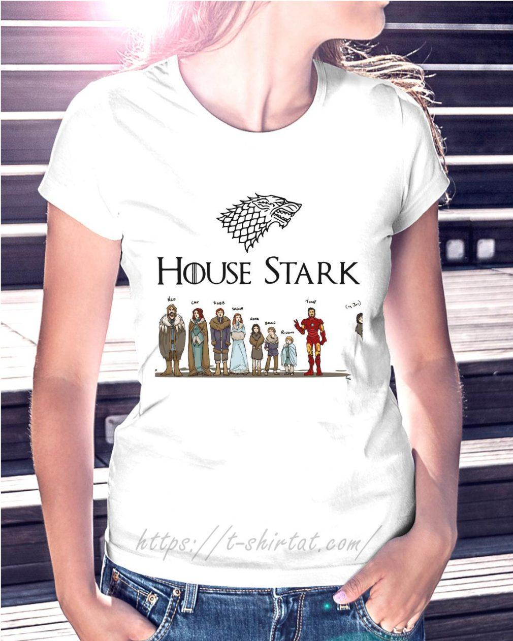 House Tony Stark Iron Man Game of Thrones Ladies Tee