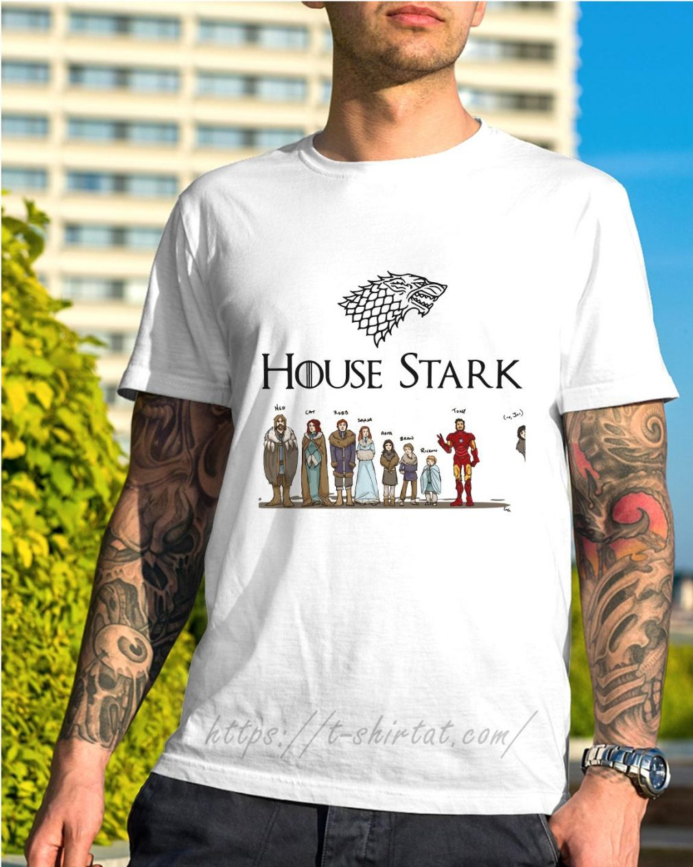 House Tony Stark Iron Man Game of Thrones shirt