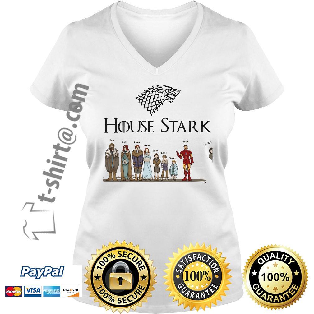 House Tony Stark Iron Man Game of Thrones V-neck T-shirt