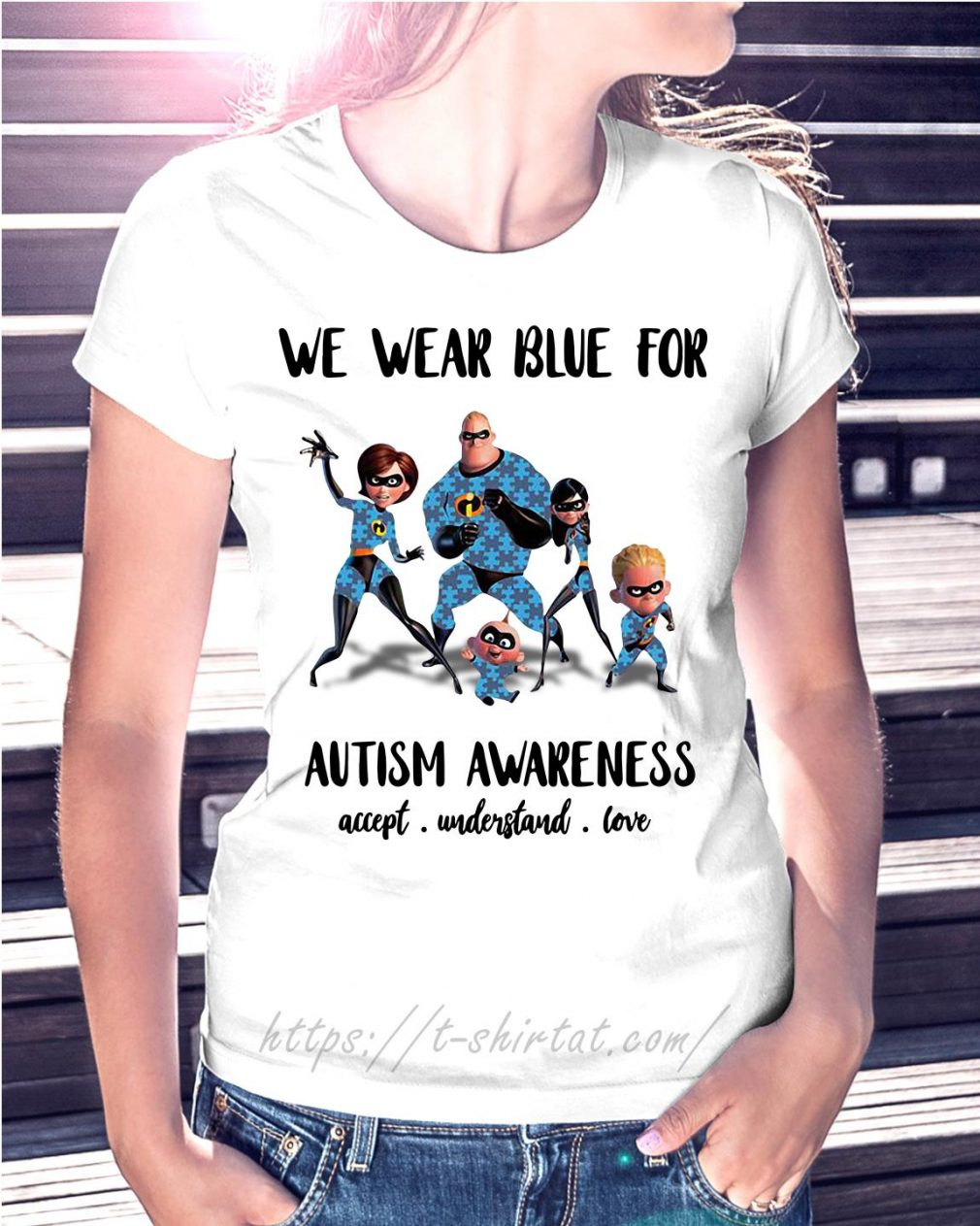 Incredible family we wear blue for Autism awareness accept understand love