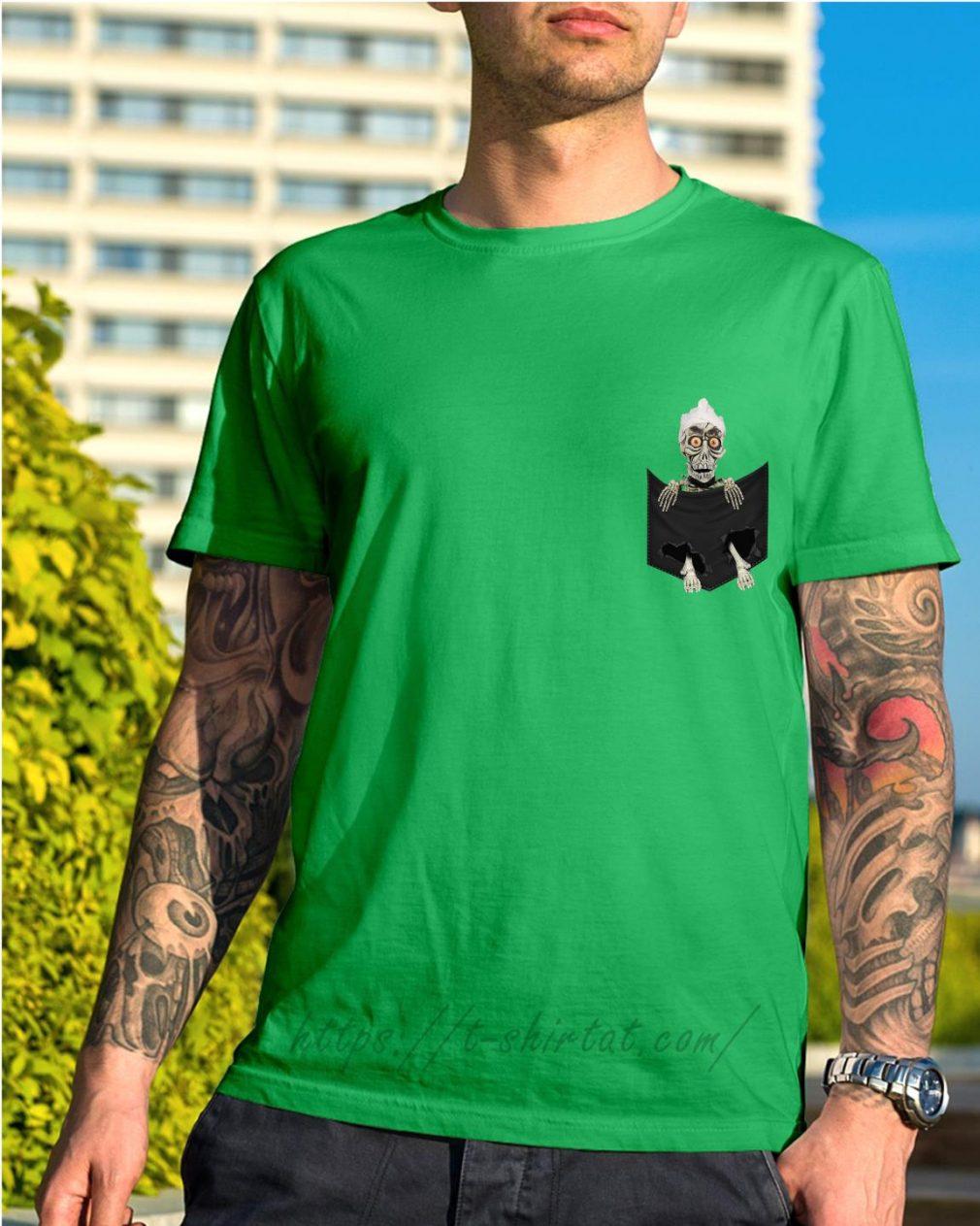 Jack Skellington in a pocket shirt