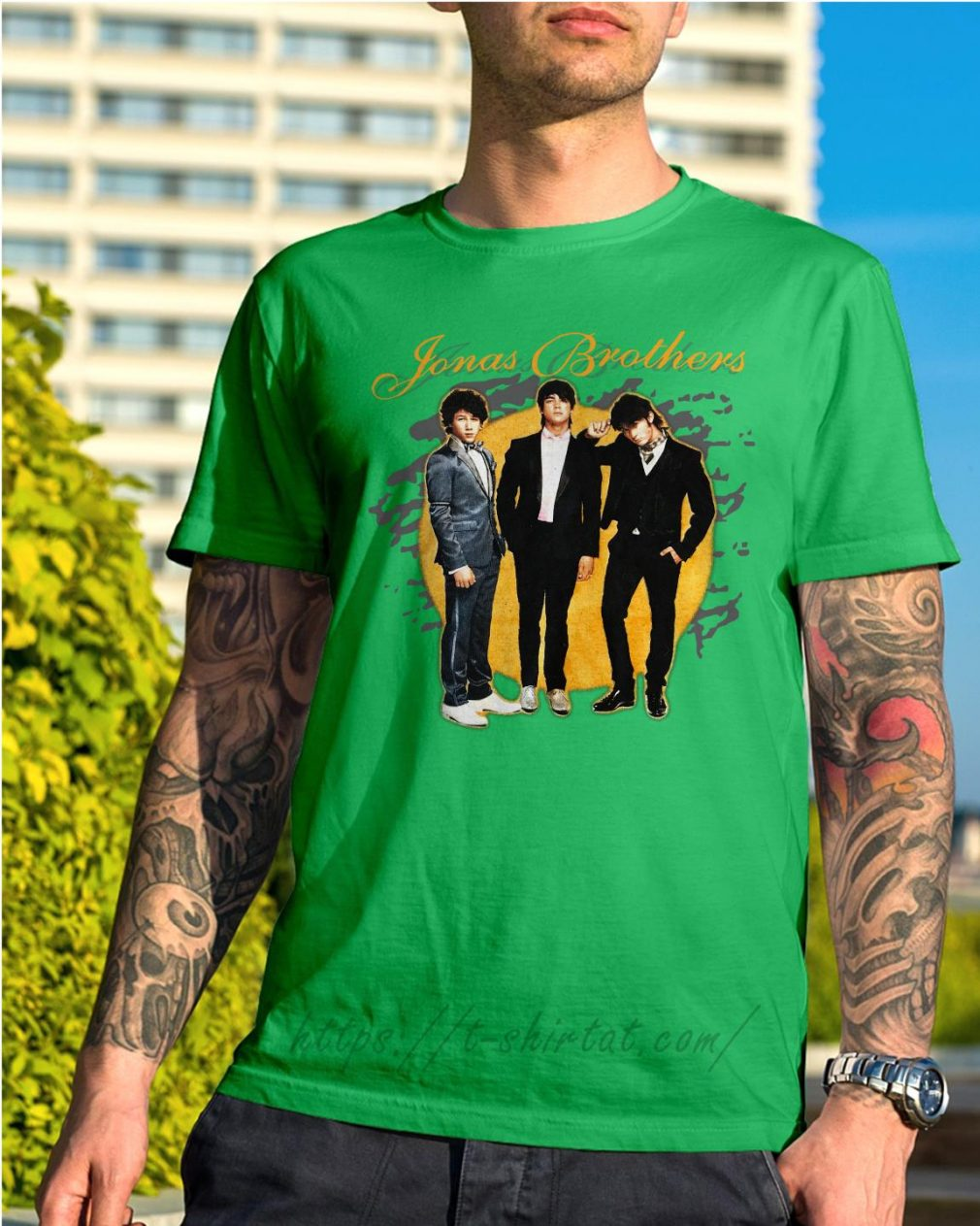 Jonas Brothers concert Shirt green