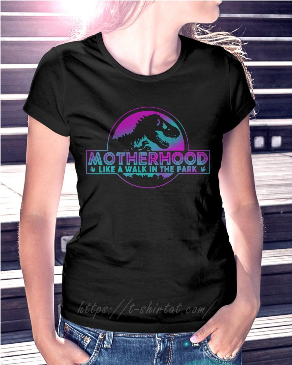 Jurassic park other like a walk in the park Ladies Tee