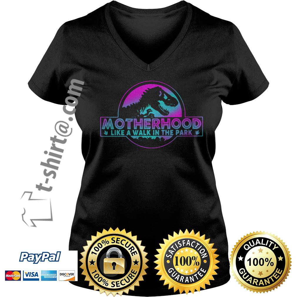 Jurassic park other like a walk in the park V-neck T-shirt
