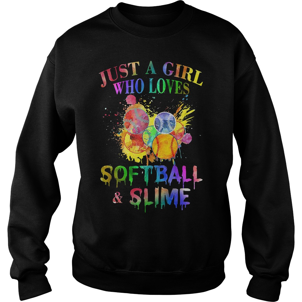 Just a girl who loves softball and slime Sweater