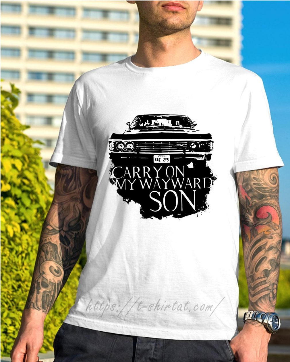 KAZ 2Y5 carry on my wayward son shirt