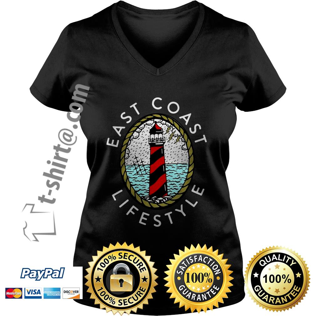 Lighthouse east coast life style V-neck t-shirt
