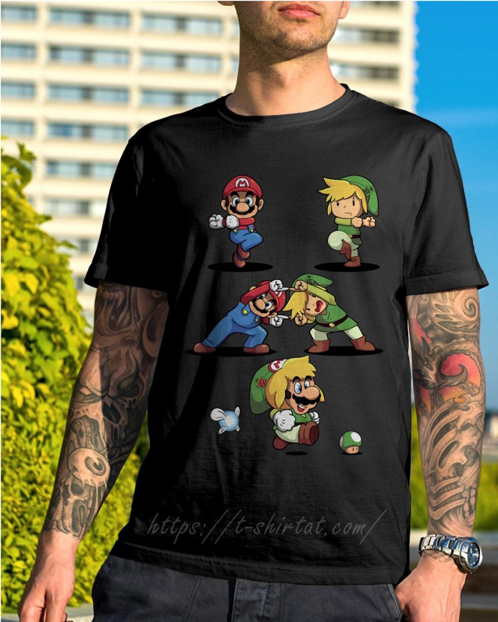 Mario and Toon Link fusion dance shirt