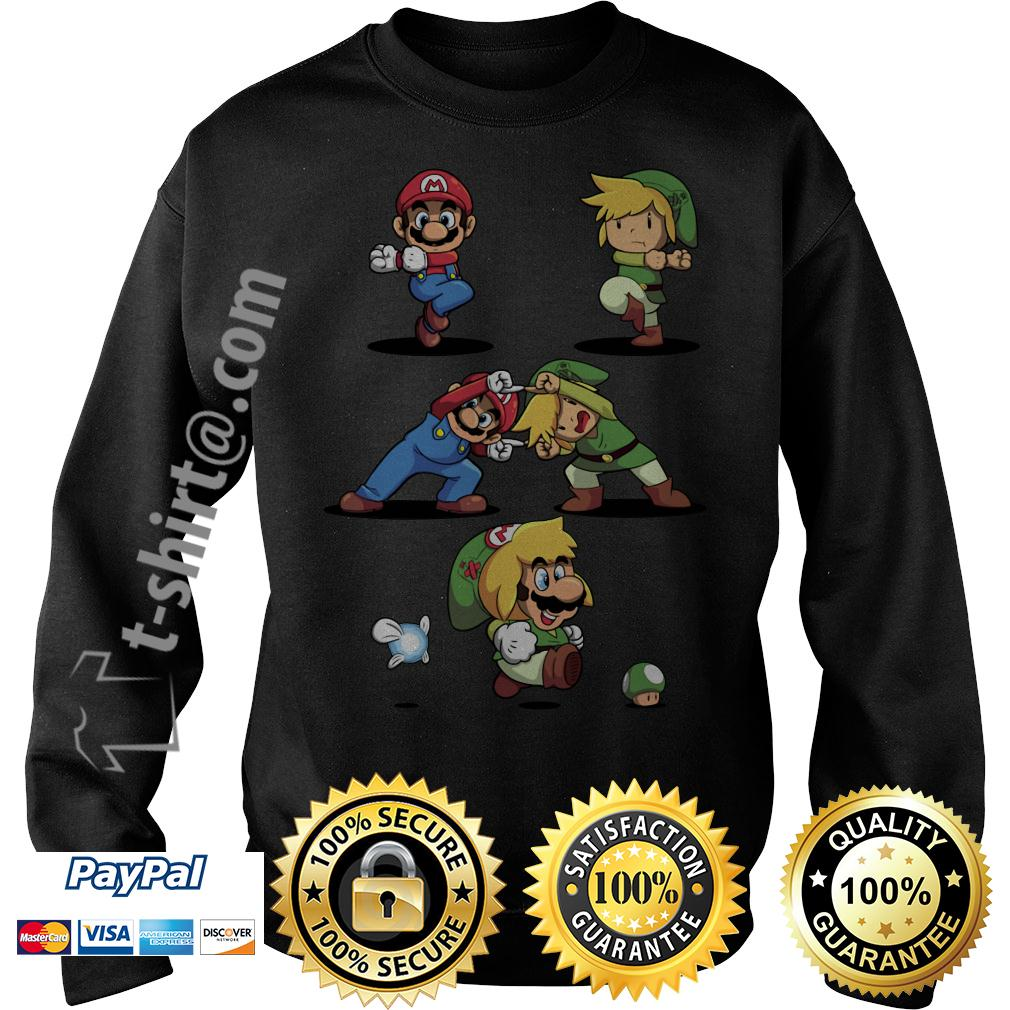 Mario and Toon Link fusion dance Sweater