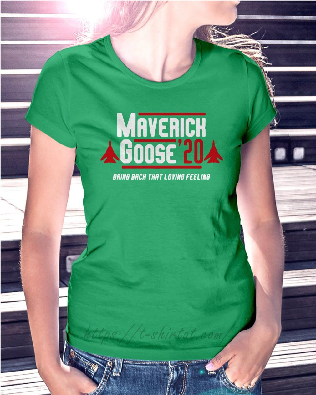 Maverick Goose' 20 bring back that loving feeling Ladies Tee green