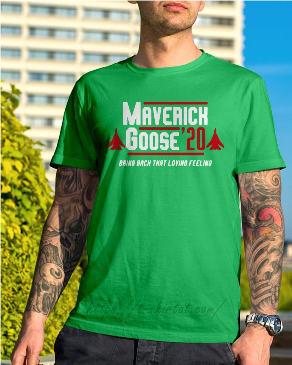 Maverick Goose' 20 bring back that loving feeling Shirt green