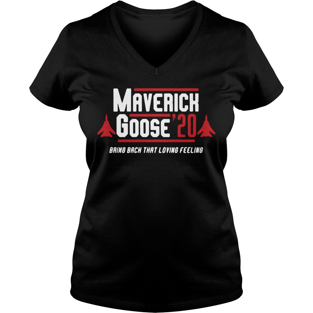 Maverick Goose' 20 bring back that loving feeling V-neck T-shirt