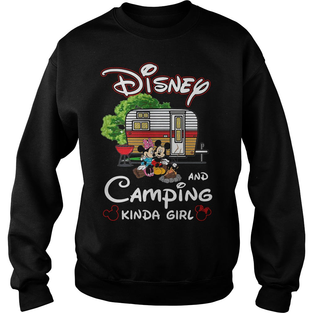 Mickey and Minnie Disney and camping kinda girl Sweater