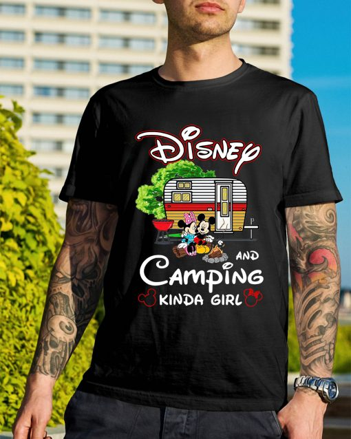 Mickey and Minnie Disney and camping kinda girl shirt
