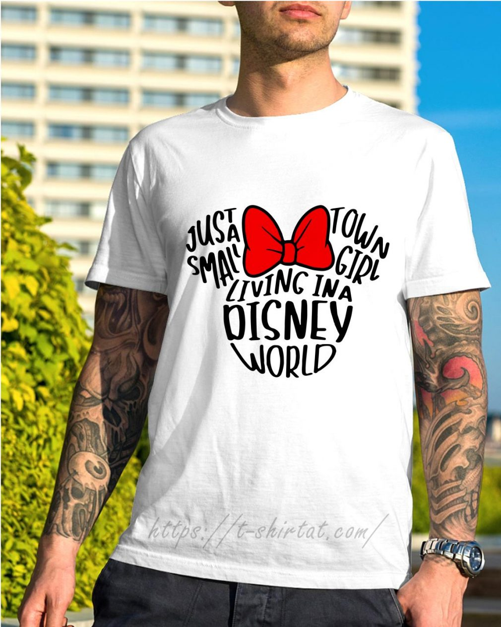 Mickey Mouse just a small town girl living in a Disney world shirt
