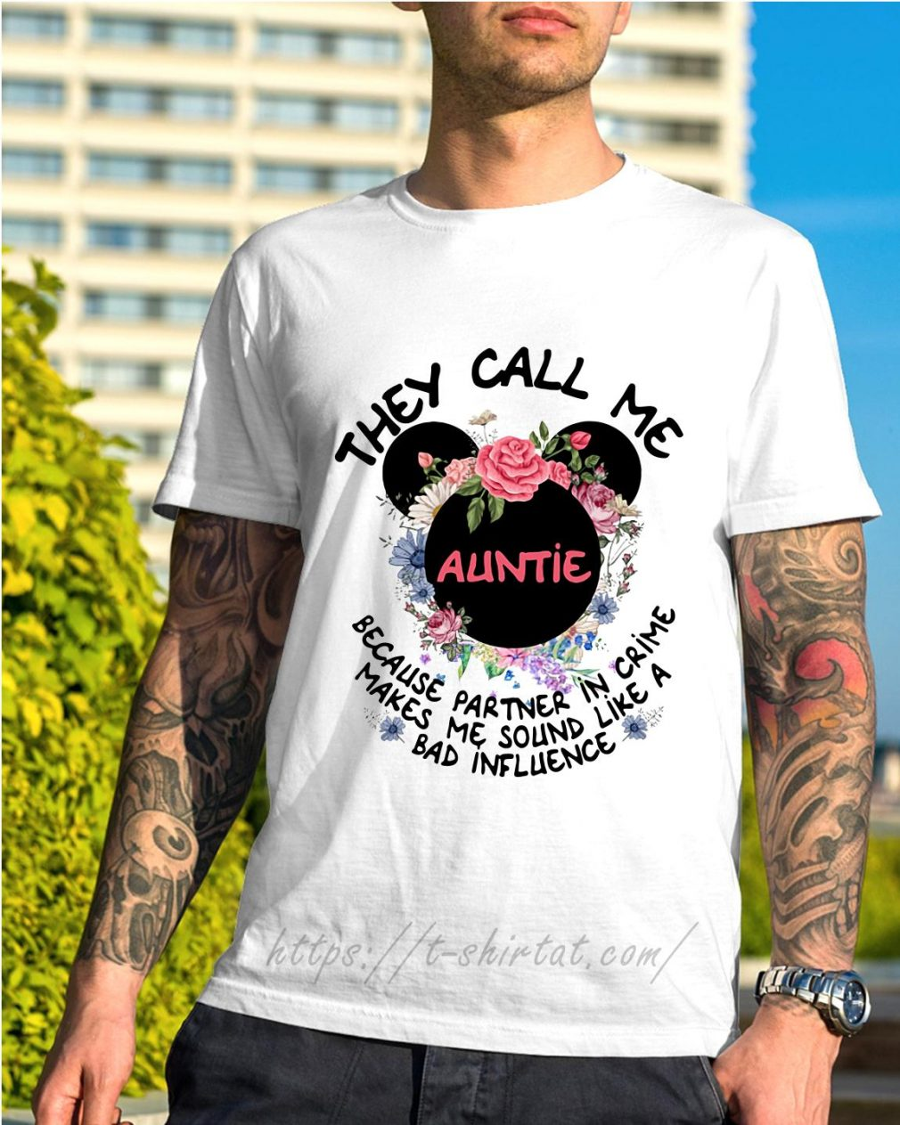 Mickey mouse they call me auntie because partner in crime shirt