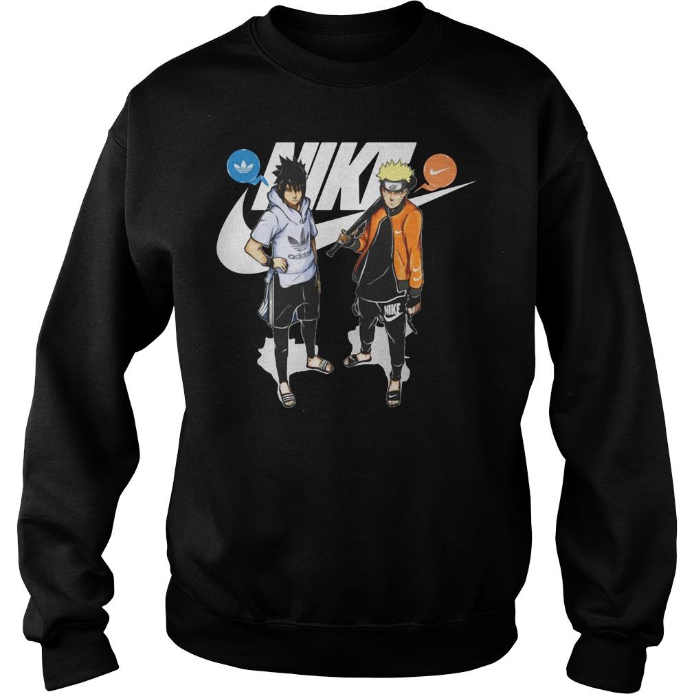 Naruto and Sasuke Nike Adidas Sweater