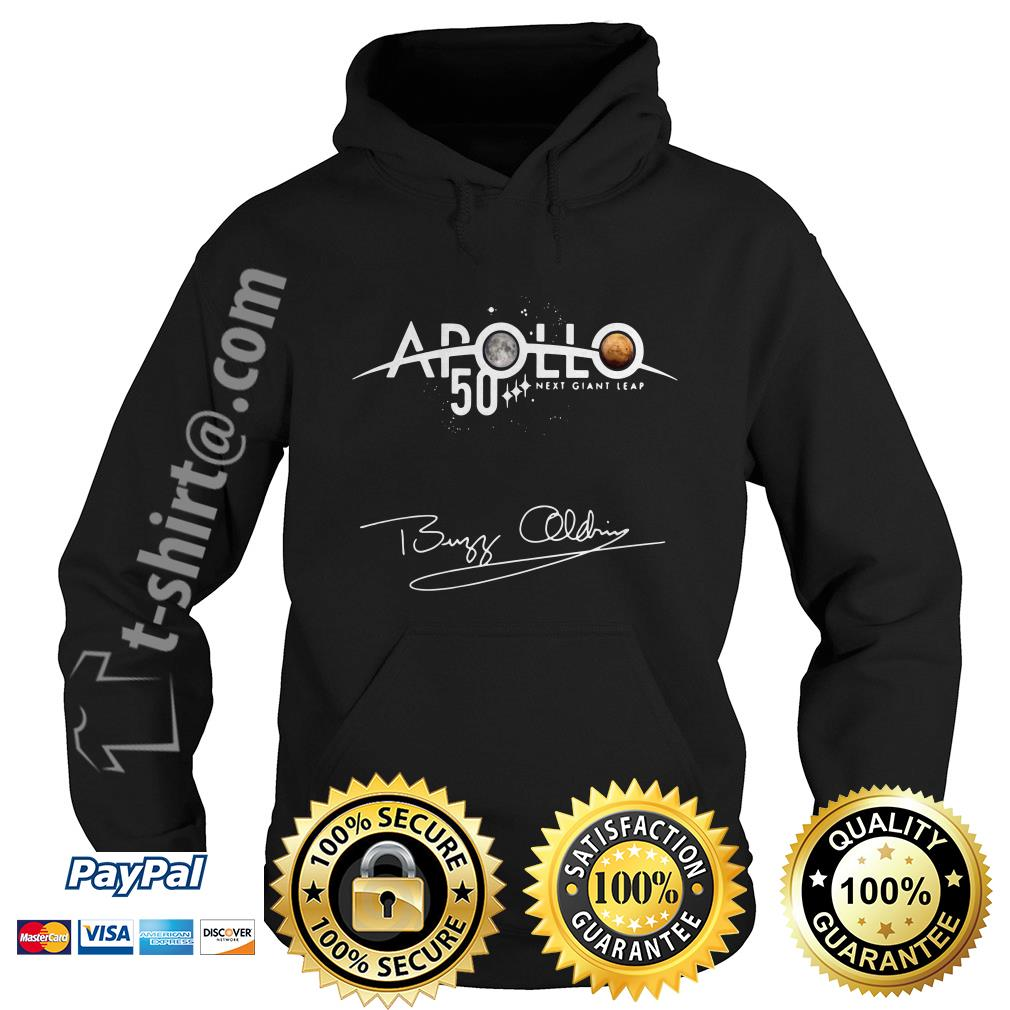 NASA Apollo 50th Anniversary 11 moon landing Buzz Aldrin signature Hoodie