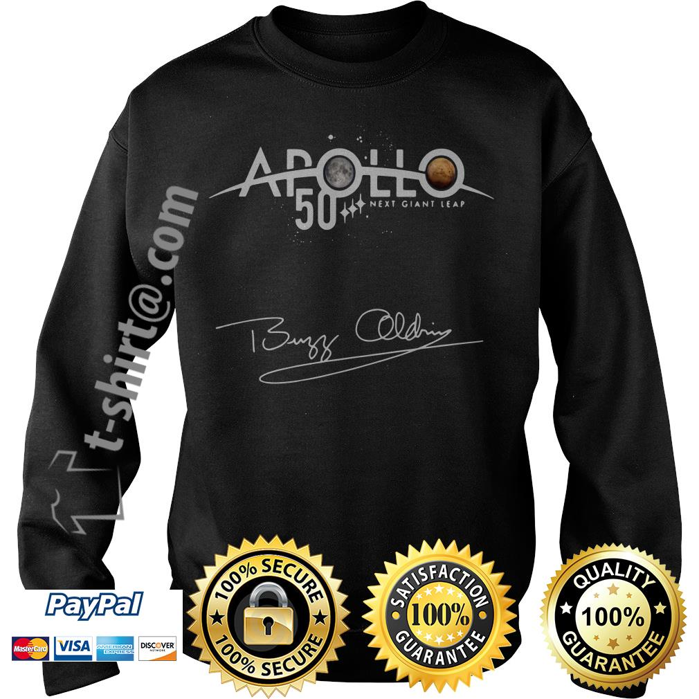 NASA Apollo 50th Anniversary 11 moon landing Buzz Aldrin signature Sweater