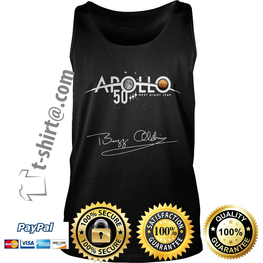 NASA Apollo 50th Anniversary 11 moon landing Buzz Aldrin signature Tank top