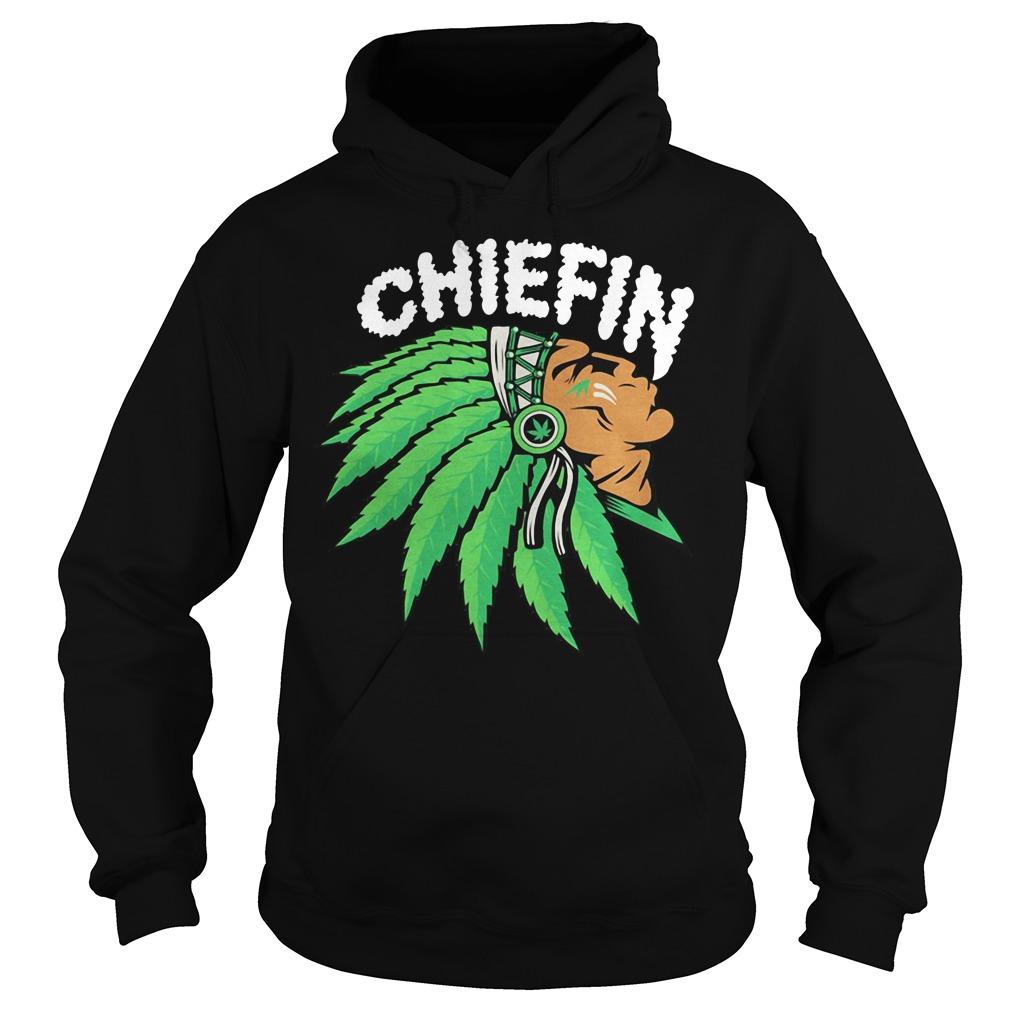 Native smoking weed chiefin Hoodie