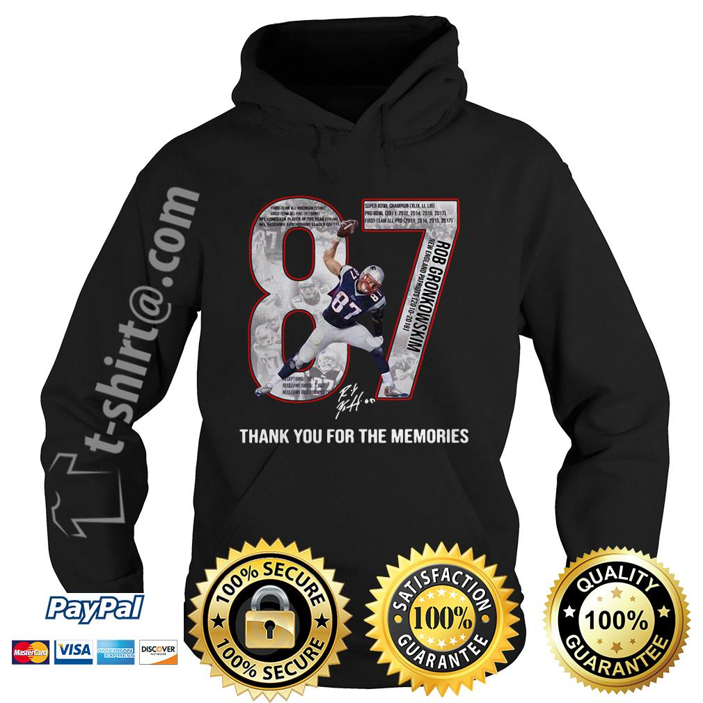 New England Patriots Rob Gronkowski 87 thank you for the memories Hoodie