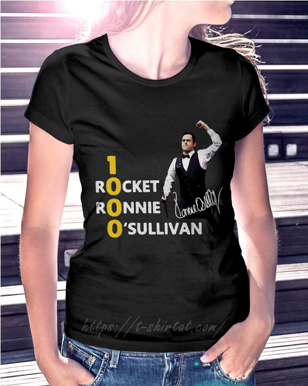 Official 1000 Rocket Ronnie O'Sullivan Ladies Tee